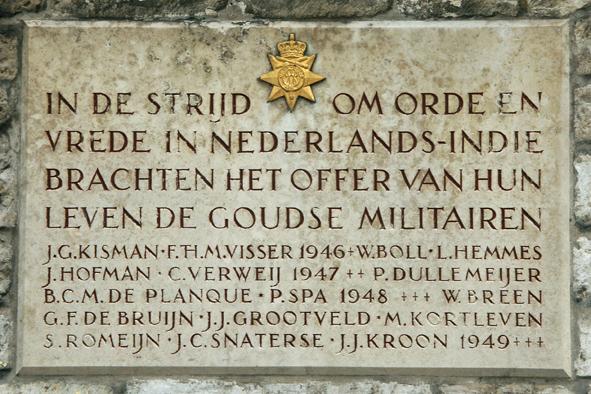 Monument voor gesneuvelde militairen in voormalig Nederlands Indië.