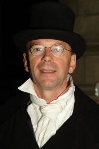 Nico als dokter Buchner tijdens het 75 jarig jubileum van die Gouda. Hij was toen voorzitter.