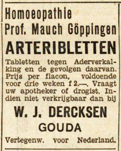 Advertentie uit dagblad De Banier. (18-09-1936, Collectie KB)